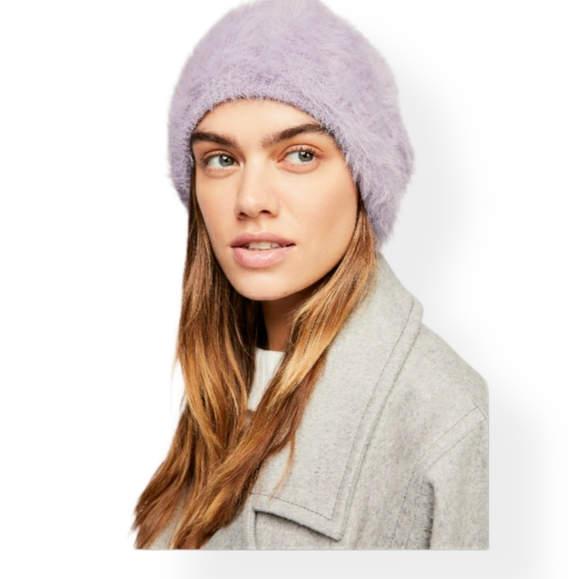 Free People Lavender Fluffy Beanie ✨
